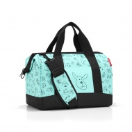 Torba podróżna kids M Reisenthel Allrounder cats and dogs mint