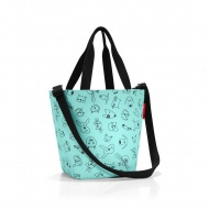 Torba shopper XS kids cacats and dogs mint
