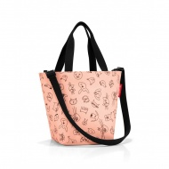 Torba shopper XS kids cacats and dogs rose