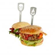 """TORRO szpilki do burgerów """"czacha+ogień"""""""