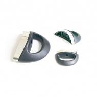 Uchwyt boczny do szybkowarów 3,5x2,5x11,5cm Fissler czarno-biały
