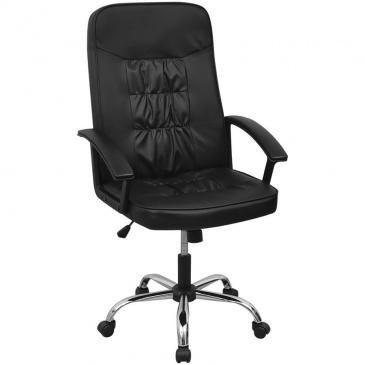 vidalXL Krzesło biurowe Sztuczna skóra 67x70 cm Czarne