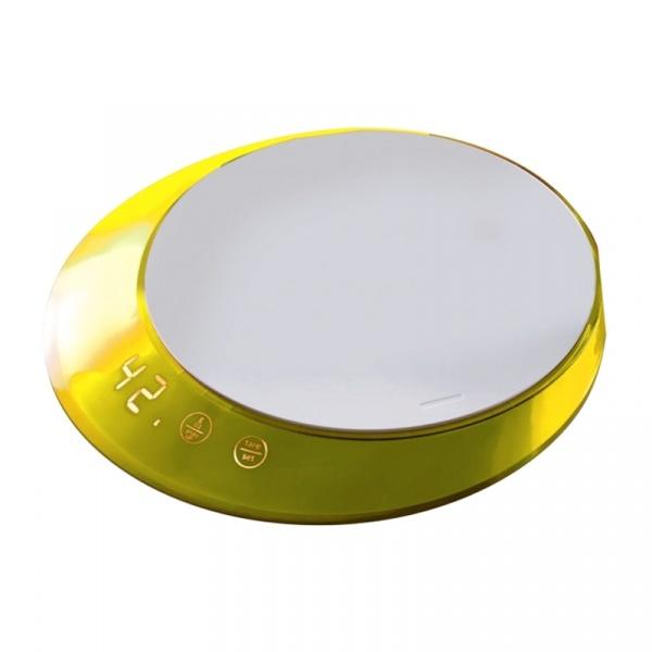 Waga elektroniczna z timerem Casa Bugatti Glamour żółta GL6U-02180