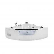 Wanna biała narożna z oświetleniem LED i hydromasażem Michela