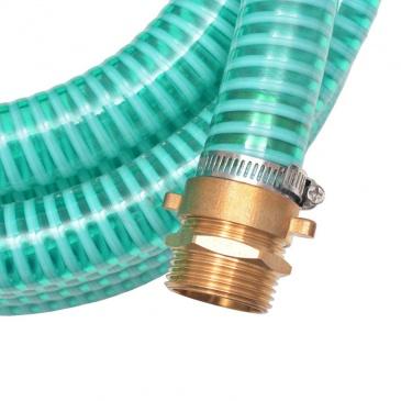 Wąż ssący z mosiężnymi złączkami, 4 m, 25 mm, zielony