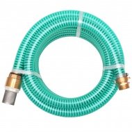 Wąż ssący z mosiężnymi złączkami, 7 m, 25 mm, zielony