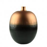 Wazon Tebe 23x23x45 cm Miloo Home czarno-brązowy
