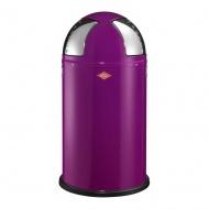 Wesco - Kosz na śmieci fioletowy 50l Push Two Wesco