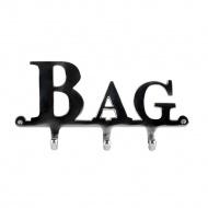 Wieszak 3 haczyki Bag 30x4x12 cm Miloo Home srebrny