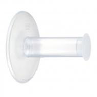Wieszak na papier toaletowy Koziol Plug'N Roll przeźroczysty