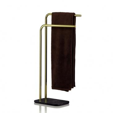 Wieszak na ręczniki 30x20x80,5 cm Kela złoto-czarny KE-20020
