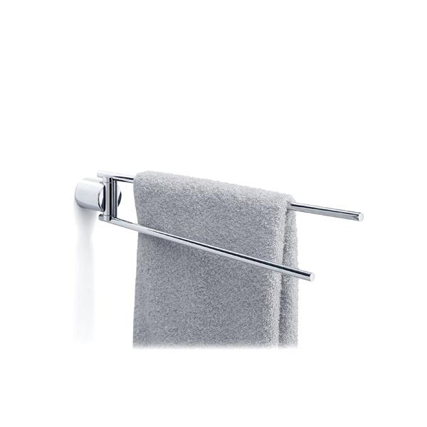 Wieszak na ręczniki dwuramienny łazienkowy polerowany Blomus Duo Poli 68570