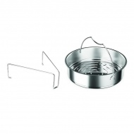 Wkład do gotowania z dziurkami do szybkowaru 18cm Fissler srebrny