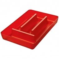 Wkład do szuflady na sztućce Koziol Rio czerwony