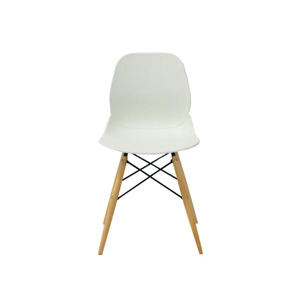 Włoskie krzesło DSW DSR King Bath Leaf białe PW-025.BIALY