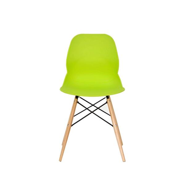 Włoskie krzesło DSW DSR King Bath Leaf zielone SI-KPW-025.ZIELONY