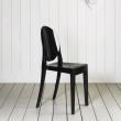 Włoskie krzesło King Bath Victoria Ghost czarne SO-KPC-448.CZARNY