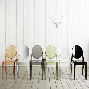 Włoskie krzesło King Bath Victoria Ghost transparentne