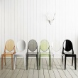 Włoskie krzesło King Bath Victoria Ghost transparentne 111-APC.CLEAR