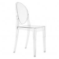 Włoskie krzesło King Home Victoria Ghost transparentne