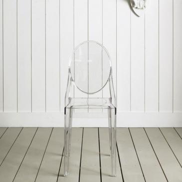 Włoskie krzesło Poliwęglan King Bath Victoria Ghost transparentne