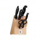 WMF-Blok z kompletem 3 noży,ostrzałką i nożyczkami