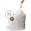 Worki na śmieci 20 szt. rozm. F 25L Simplehuman białe