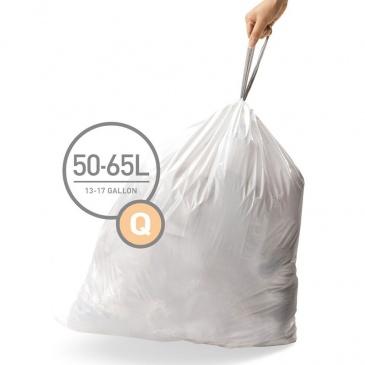 Worki na śmieci 20 szt. rozm. Q 50L Simplehuman białe