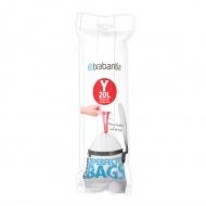 Worki na śmieci 20l Brabantia PerfectFit Bags białe