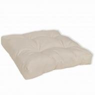 Wyściełana poduszka na siedzenie 50 x 50 x 10 cm biały piasek