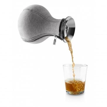 Zaparzacz do herbaty 1,0 l Ciemnoszary tkany