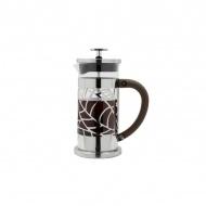 Zaparzacz do kawy 600ml Cafe Ole French Press Leaf srebrny/czarny/przezroczysty