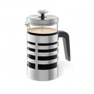 Zaparzacz tłokowy do kawy i herbaty 1l Zack Segos srebrno-przezroczysty