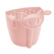 Zaparzaczka do herbaty 7,8cm Koziol Miaou pastelowy róż