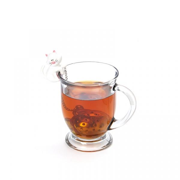 Zaparzaczka do herbaty Kot MSC International biała MS-10044-BIA