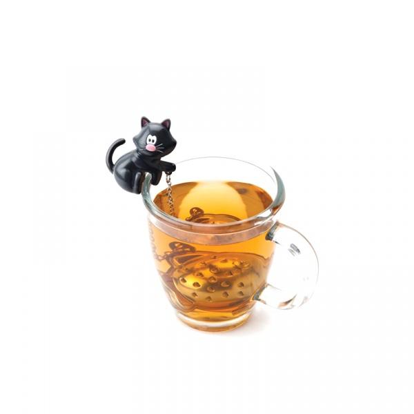 Zaparzaczka do herbaty Kot MSC International czarna MS-10044-CZA