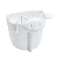 Zaparzaczka do herbaty kotek Koziol Mimmi biała