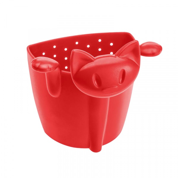 Zaparzaczka do herbaty kotek Koziol Mimmi czerwona KZ-3236583