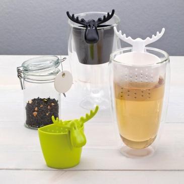 Zaparzaczka do herbaty 7x6cm Koziol Rudolf czarna