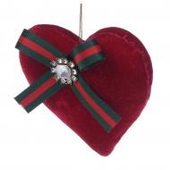 Zawieszka British czerwone serce 12 cm