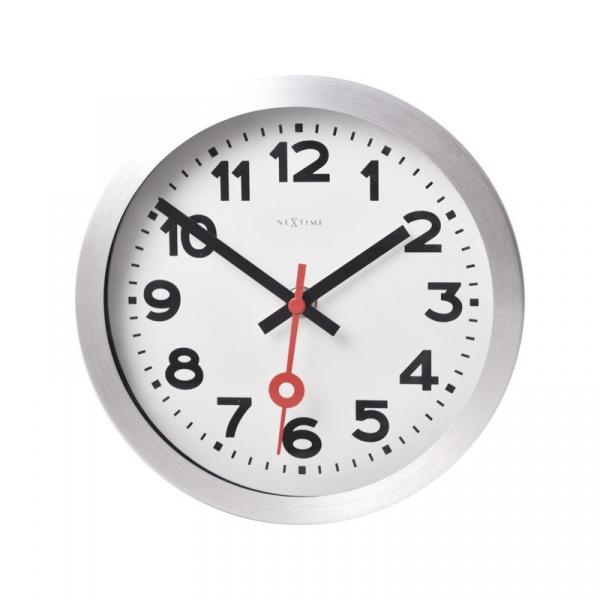 Zegar ścienny 19 cm Nextime Station biały 3998AR
