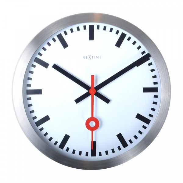Zegar ścienny 19 cm Nextime Station biały 3998ST
