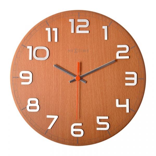 Zegar ścienny 30x30 cm Nextime Classy buk 3082
