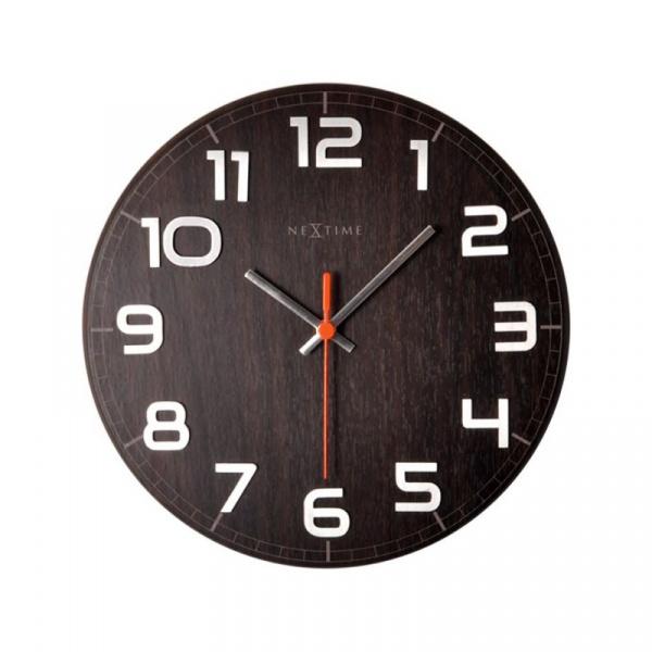 Zegar ścienny 30x30 cm Nextime Classy orzech 3082BR
