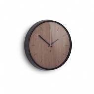 Zegar ścienny 31,8cm Umbra Madera czarno-orzechowy