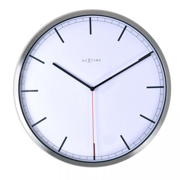 Zegar ścienny 35 cm Nextime Company biały 3071WI
