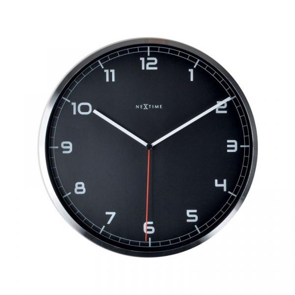 Zegar ścienny 35 cm Nextime Company czarny 3080ZW