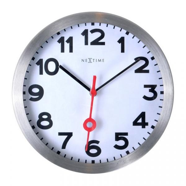 Zegar ścienny 35 cm Nextime Station biały 3999AR