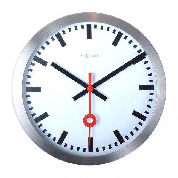 Zegar ścienny 35 cm Nextime Station biały 3999ST