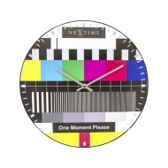 Zegar ścienny 35 cm Testpage Dome
